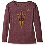 NCAA Arizona State Sun Devils Womens Her Full Color Primary Logo L/s Crew Teeher Full Color Primary Logo L/s Crew Tee, Maroon, Small