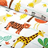Bloomsbury Mill - Safari Adventure - Jungle Animals - Kids Bedding Set - Double Duvet Cover and 2 Pillowcases