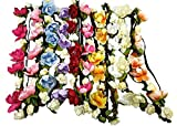WTB 1PC Mädchen Blumen-Fee Bohemian Braid-Hochzeit Strand-Tiara-Kronen-Haar Stirnband, 10 PC-Mischfarbe, kann justieren