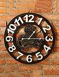HAIBUHA Wanduhren Industrial Wind Retro Gear Wanduhren Kreative Home Wohnzimmer Wand Deko Bar Wanduhr Persönlichkeit (50 * 50CM) Ultra Silent Home Dekorative Wandmontierte Uhr (Farbe : C)