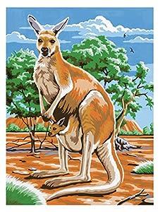 Mammut 105104 - Pintura por números - Canguro, Alrededor de 30,4 x 22,8 cm