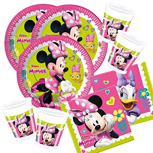 t Minnie Mouse - Minnie Happy Helpers - Teller Becher Servietten für 16 Kinder (Minnie Mouse-pappteller)