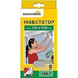 Schellenberg 50710 nylon horrengaas, muggen en insectengaas inclusief bevestigingstape, bevestiging zonder te boren, 100 x 10