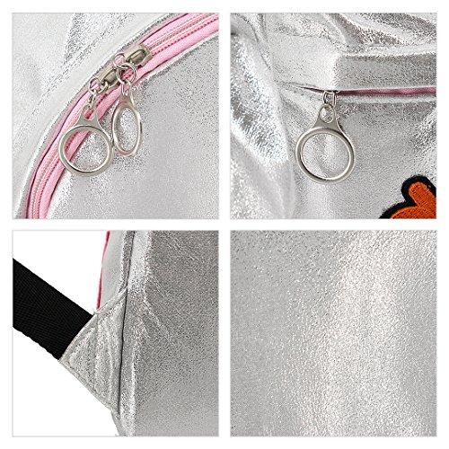Novias Boutique, Borsa a zainetto donna rosa Pink Silver