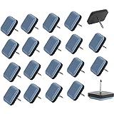 Planeadores de silla, deslizadores de muebles de teflón fácil de mover almohadillas cuadradas con protector de pies de uñas p