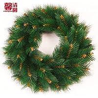 Verde di pini aghi non decorata ghirlanda di Natale ghirlanda