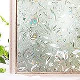 cottoncolors Fensterfolie Sichtschutzfolie 3D Dekofolie statisch selbstklebend Anti UV milchglas Fensterfolien, 11.8 x 78.7Inches. (30 x 200 cm)
