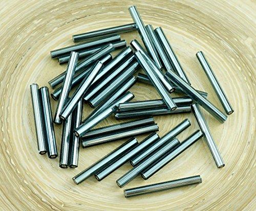 64pcs-x-25mm-extra-lungo-nero-argento-foderato-rotondo-di-vetro-ceco-perline-bugle-preciosa-tubi