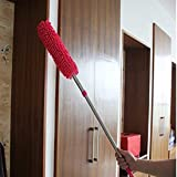 Improvhome Multipurpose Microfiber Cleaning Duster with Extendable Telescopic Wall Hanging Handle, Standard, Multicolour