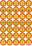 40 x Pre Cut Lego Faces Kuchen, Cupcake Topper/Dekoration Essbar Wafer Papier
