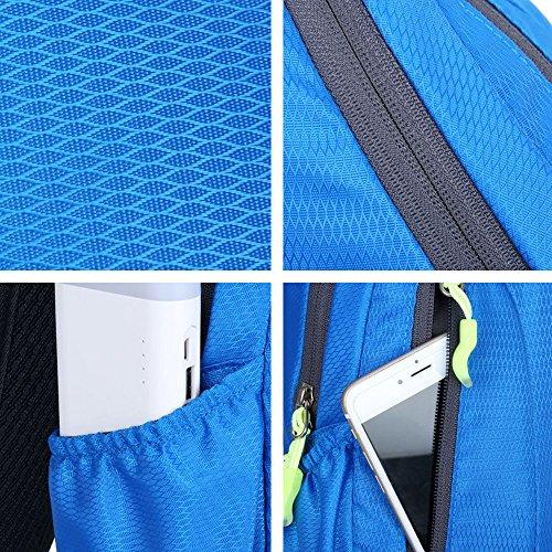 iVotre Spalla - Borsa Resistente All'Acqua Petto Sbilanciare Borsa Multi Funzionale Cross Body Bag Tasche Per Esterni Dello Sport, Ciclismo, Viaggiando - Green blue