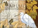 Fresque murale en carrelage - Cape Feather - par Paul Brent - Cuisine crédence/Salle de bains douche