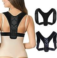 Posture Corrector for Women & Men, Under Clothes Adjustable Shoulder Belt for Slouching & Hunching, Upper Back Brace Posture