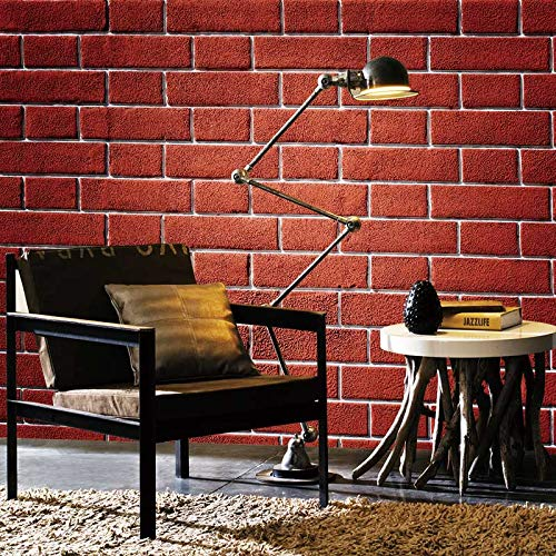 4ca0282597f BZDHWWH Vintage Red Brick Wallpapers Mural Stickers 3D Living Room Bedroom  Home Decor Wallpaper Di Seta
