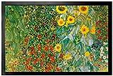 1art1 96622 Gustav Klimt - Bauerngarten Mit Sonnenblumen, 1905-06 Fußmatte Türmatte 60 x 40 cm