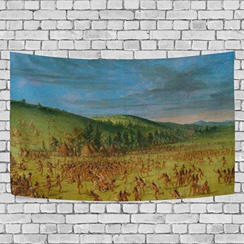Bennigiry Native American Indian Art Wandteppich für Polyester-Artwork Leichtes-Cottage Wohnheim Art Wand Dekoration zu Hause 152,4x 101,6cm, Polyester, multi, 80x60(in) -
