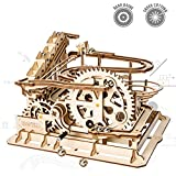 ROKR Handcrafted Marble Run-3d Wooden Puzzle Game- Home Decoration-Building Set- Amazing Tracks With Accessories-Home Decor-Best Christmas,Birthday Gift For Boys And Girls(Waterwheel Coaster)