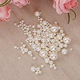 Gazechimp 150pcs Perlen Wachsperlen Dekoperlen Bastelperlen mit Loch weiß