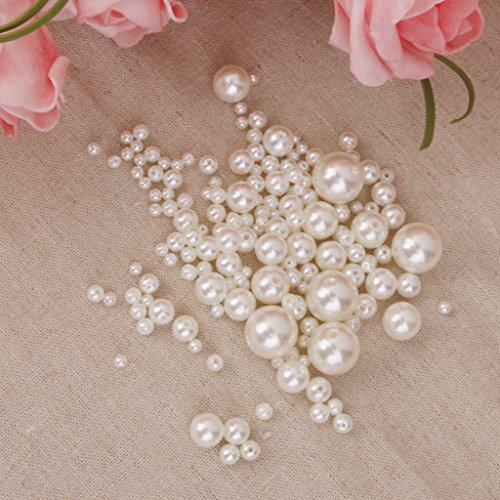 Generic 150pcs Perlen Wachsperlen Dekoperlen Bastelperlen mit Loch weiß