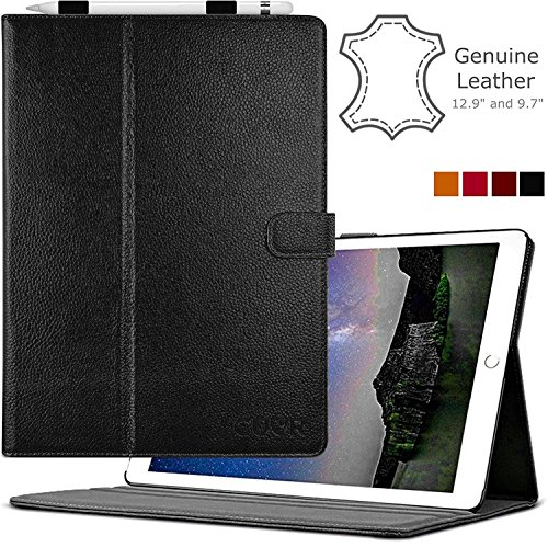 ipad-pro-case-genuine-leather-in-black-by-cuvr-129-with-auto-sleep-pencil-holder-and-multiple-standi