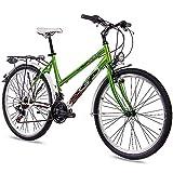 KCP 26 Zoll City Bike Damenrad WILD Cat mit 18G Shimano Weiss grün