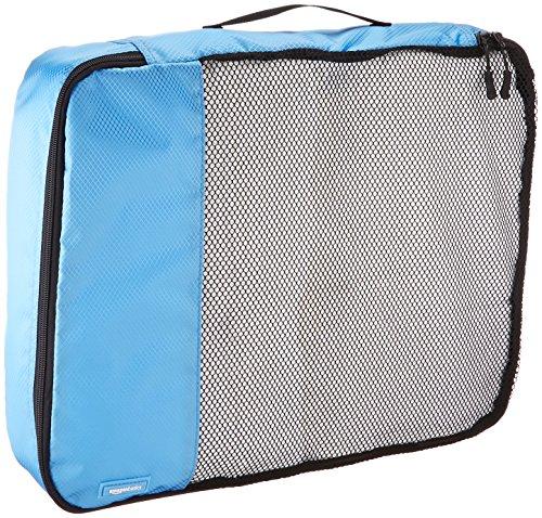 AmazonBasics Packing Cubes – Large (4-Piece Set), Sky Blue