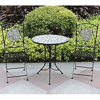 Woodside - Set table de jardin et chaises pliantes - motif ...