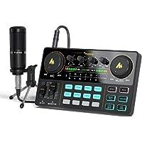 Maono DJ Controller Schnittstelle mit DJ Mischer und Soundkarte, AM200-S1 Audio Interface ALL-IN-ONE Podcast…