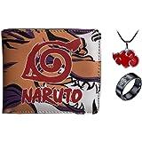 Hombres Niño Anime Naruto Billetera De Cuero De Dibujos Animados Monedero Corto Masculino Mujeres Billetera Titular De La Tar