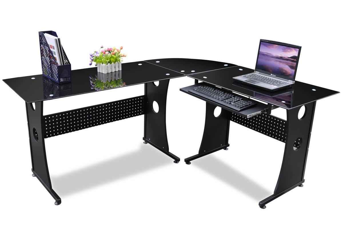 Tinxs Furniture Corner Office Desk Computer PC table L Shaped