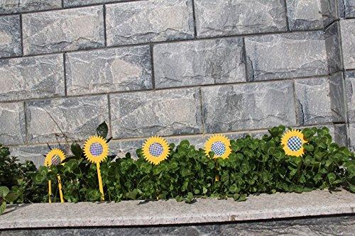 Bird Repellent Diverter Discs And 6 Reflective Sunflower Garden Stakes Bird  Repellent Bundle