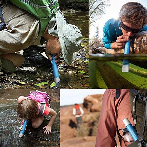 Mini Wasserfilter, ODOLAND Persönlicher Wasserfilter Filter für Outdoor Camping Wandern Trekking - 7