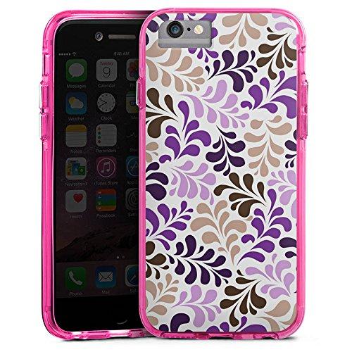 Apple iPhone 6s Bumper Hülle Bumper Case Glitzer Hülle Ornamente Verpixelte Muster Muster Bumper Case transparent pink