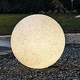 Kugelleuchte Bodenleuchte Leuchtkugel Gartenkugel Mundan inkl. Erdspieß | 300 mm Ø | granit | wetterbeständiger Kunststoff | 230V | E27 | IP44 | rund | Außenleuchte | Gartenleuchte | Wegleuchte