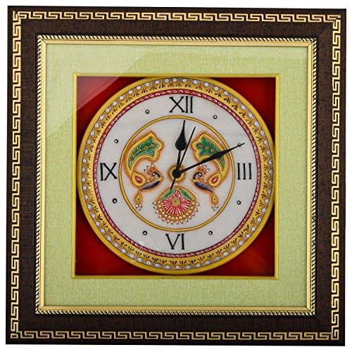 Saudeep India Trading Corporation Marble Wall Clock (SIWCPCPR5, 38 cm x 38...