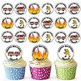 Dessin animé Pompier Mix 24personnalisé comestible pour cupcakes/décorations de gâteau d'anniversaire-Facile...