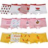 Kidear Bragas Cortas de algodón para niñas pequeñas de la Serie para niños Ropa Interior variada para bebés (Paquete de 12)