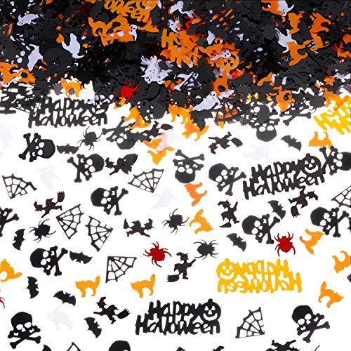 3,5 Unzen Halloween Konfetti Tisch Konfetti Spinne Hexe Geist Schädel Netz Fledermaus und Katze Form Konfetti für Halloween Party Dekorationen
