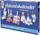 Adventskalender zum Selbernähen: Stoff mit aufgedrucktem Schnittmuster und Anleitung für einen...