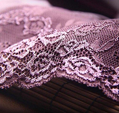 Frauen-Eis-Seide Ohne Eine Spur Unterwäsche-reizvolle Spitze-Gewebe-Baumwolle Stalls Angle Pants Taille (3 Sätze) A12