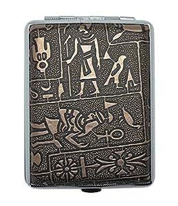 Mysterious Egyptian Glyphs Metal Cigarette Case (Holds 16)