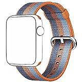Banda della cinghia, magiyard cinturino da polso banda di rilascio di Sport tessuti di nylon per Apple Watch Series 3/2/142mm, arancione
