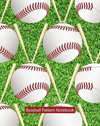 Baseball Pattern Notebook: College Ruled Writer's Notebook for School, the Office, or Home! (8 x 10 inches, 120 pages)
