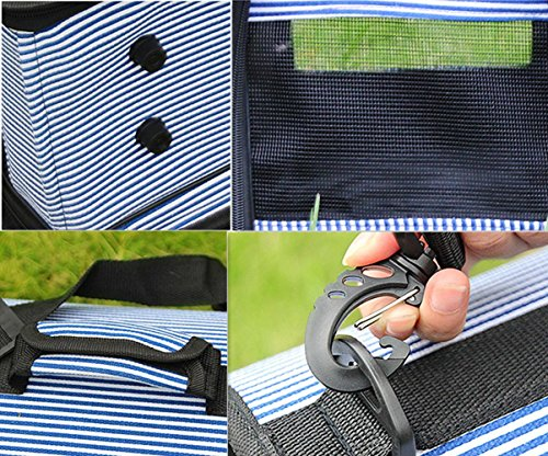 OOFWY Zaino Pet / modo casuale di stile / cane e gatto pacchetto di viaggio / portatili Borse di spalla / poliestere 600D Oxford tessuto Materiale , 4-Small 4-Large