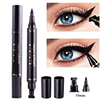 Winged Eyeliner Stamp-2 Pens Dual Ended Liquid Eye Liner Pen Waterproof Smudge Proof Long Lasting eyeliner Vamp Style...