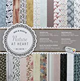 Craft Scrapbooking Papier – 24 Blatt – 2 x 24 Motive - 30 x 30 cm (12