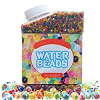 SIMUR Water Beads Crystal Gel Pack,Simuer Rainbow Mix Jelly Pealrs Water Growing Balls Vases Filler Home Decoration(300ml/280g)