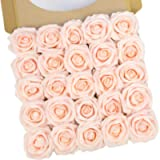 N&T NIETING Artificial Flowers Roses, 25pcs Real Touch Fake Foam Roses DIY for Wedding Bridal Bouquets, Valentine's Day…
