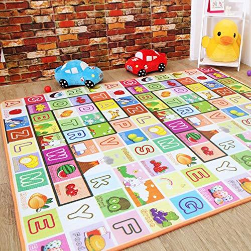 happygirr Colchoneta para bebés de Doble Cara para niños, colchoneta de Juegos para niños, Goma Espuma, Resistente a la Humedad, Color Resistente a Lavable