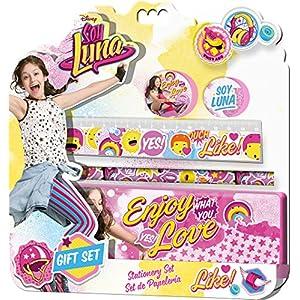 61cCGtNFVZL. SS300  - Soy-Luna-Blster-de-papelera-con-5-piezas-y-estuche-Kids-Euroswan-KD-WD18031-Unica-Kids-Euroswan-WD18031
